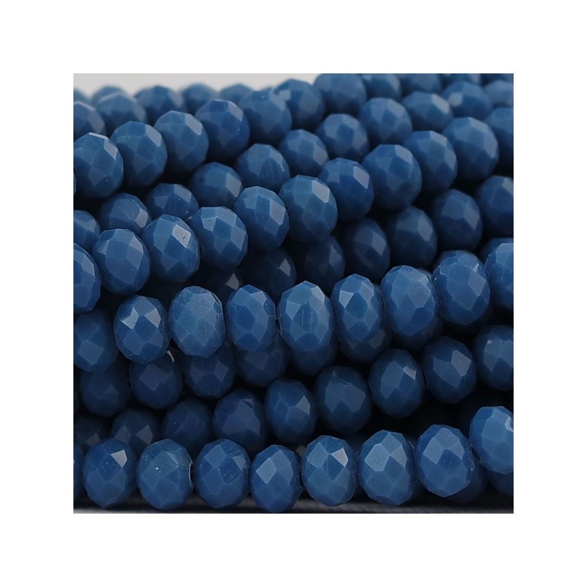 Rondelle in Cristallo Sfaccettato 6x4mm ATLANTIC BLUE