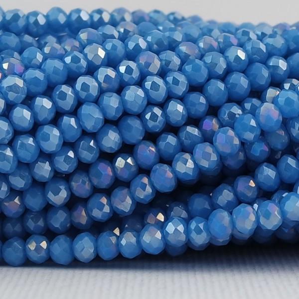 Rondelle in Cristallo Sfaccettato 3x2,5mm NAPOLI