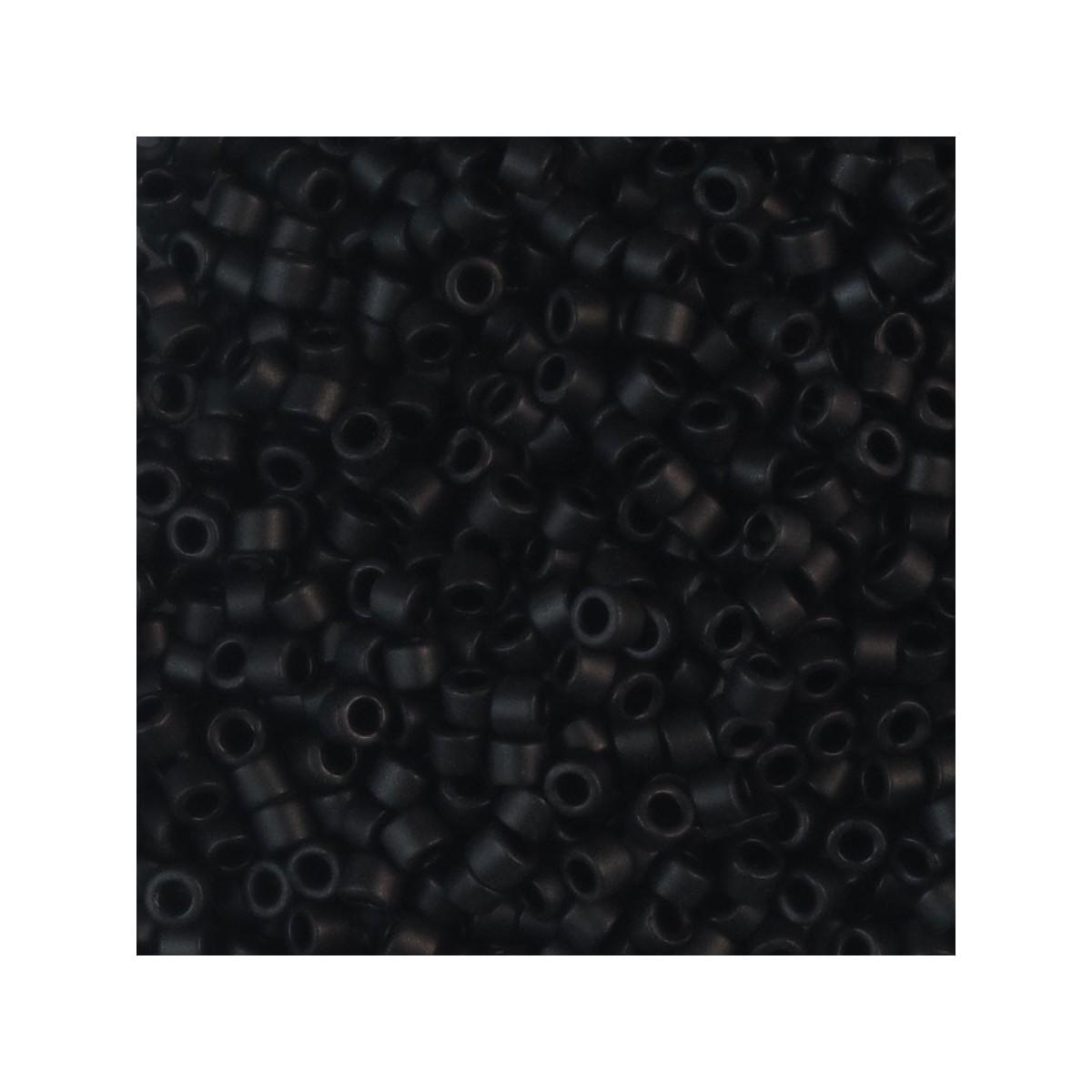 Perline Miyuki Delica 11/0 DB310 BLACK MATTED