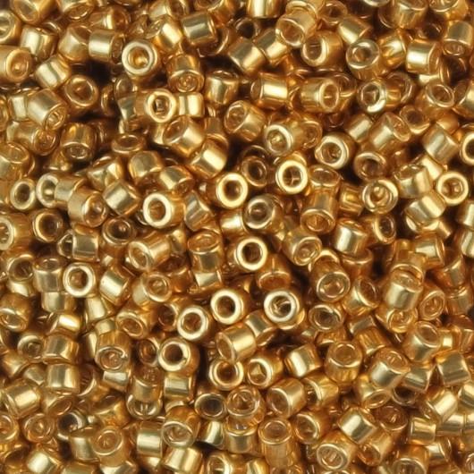 Perline Miyuki Delica 11/0 DB0410 GALVANIZED YELLOW GOLD DYED