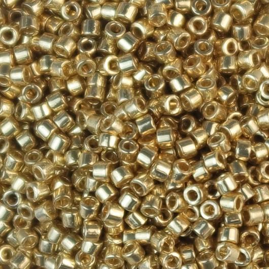 Perline Miyuki Delica 11/0 DB2501 DURACOAT GALVANIZED GOLD