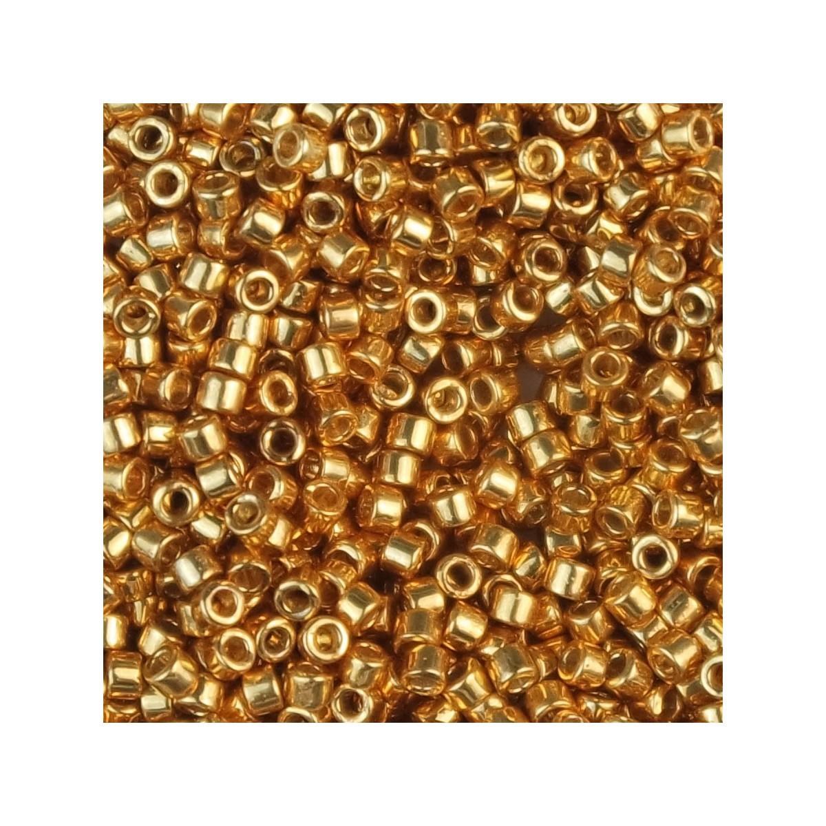 Perline Miyuki Delica 11/0 DB1833 DURACOAT GALVANIZED YELLOW GOLD