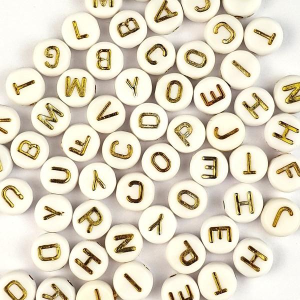 Letterine Passanti Oro Tonde