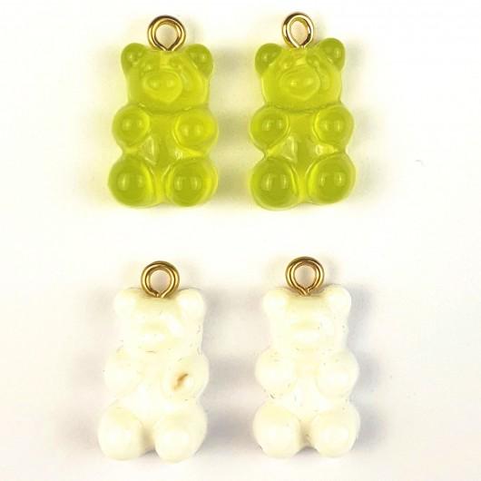 Charms Orsetto Verde e Bianco