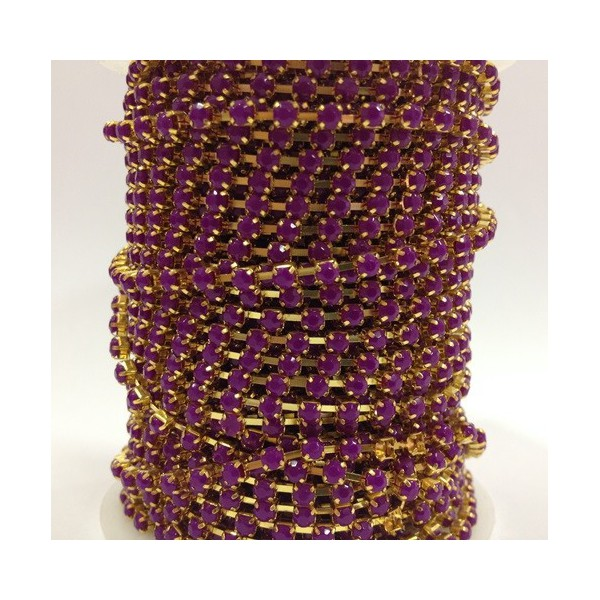 Catena con Strass in Resina 4mm Ametista