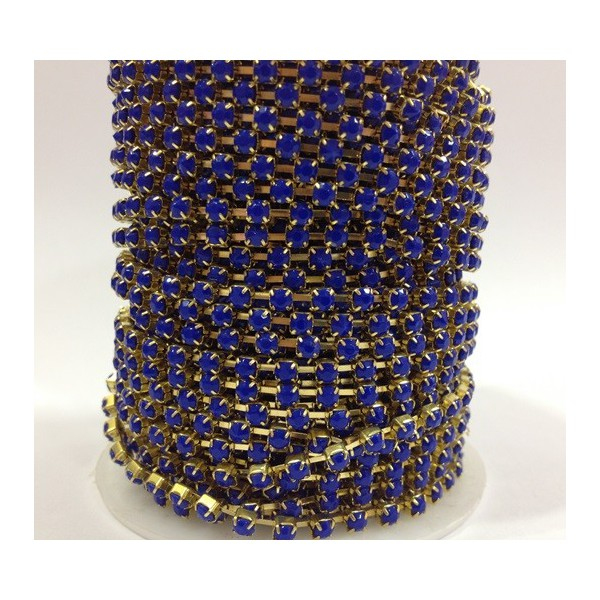 Catena con Strass in Resina 4mm Blue