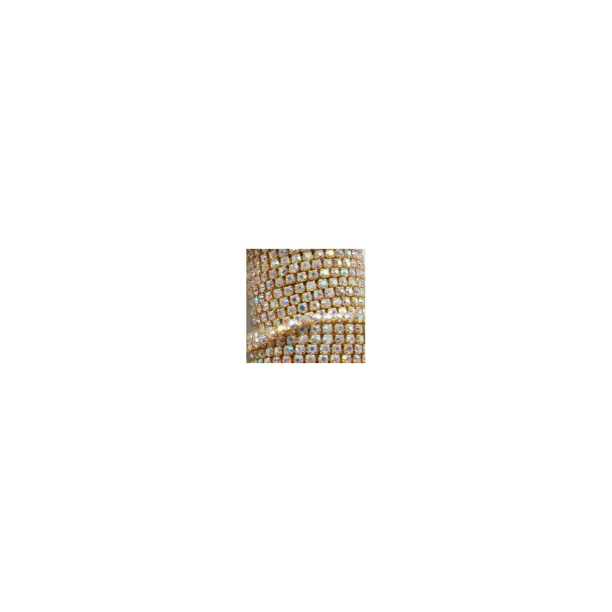 Catena con Strass in Cristallo AB 3mm