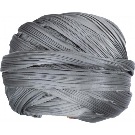 Seta Shibori Solid Silver x15cm