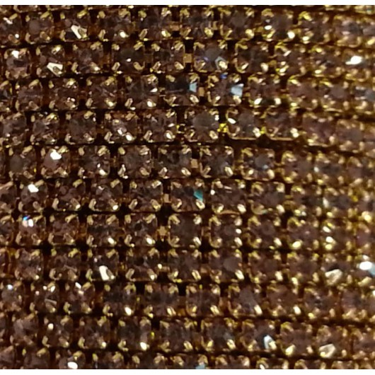 Catena con Strass in Cristallo Acquamarina 3mm