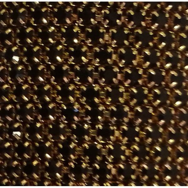 Catena con Strass in Cristallo Nero 3mm