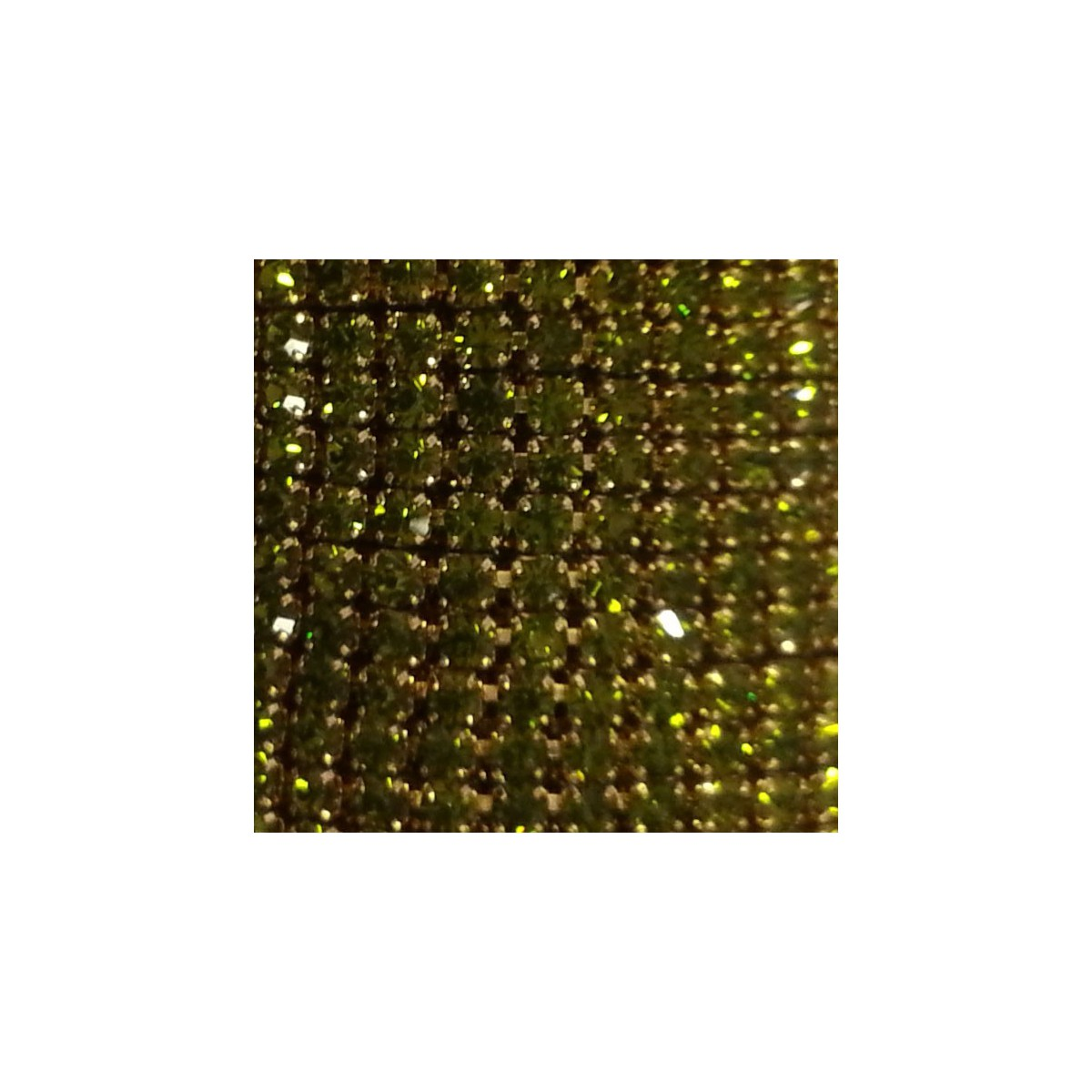Catena con Strass in Cristallo Olivine 3mm