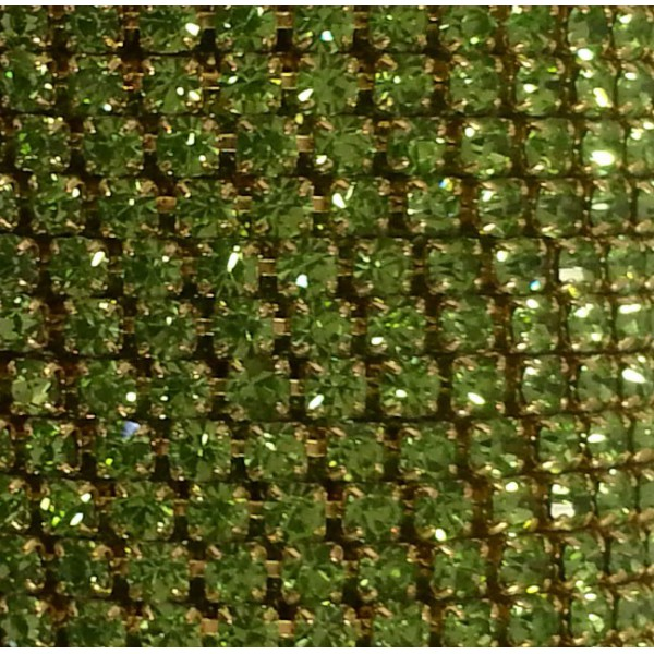Catena con Strass in Cristallo Peridot 3mm