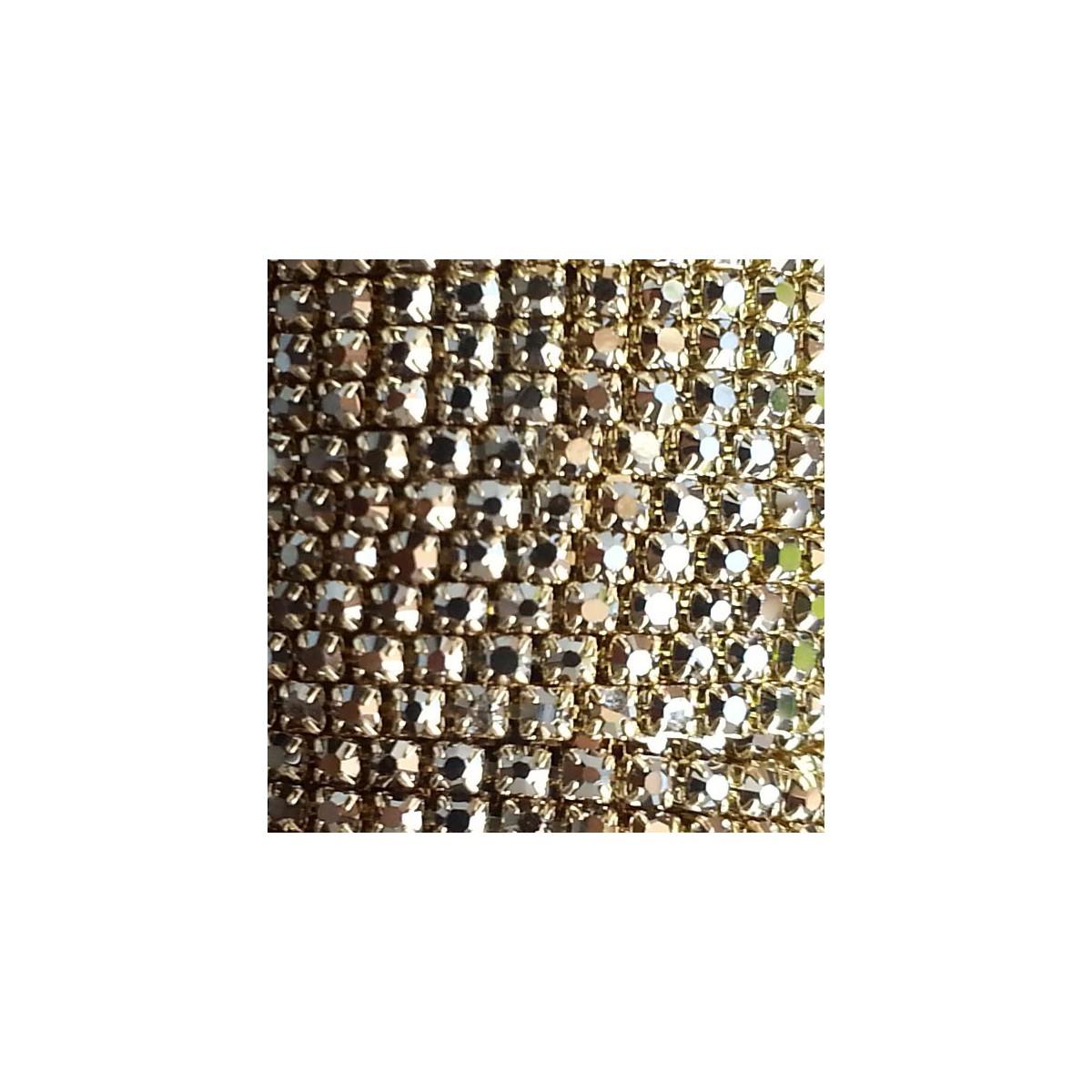 Catena con Strass in Cristallo 3mm