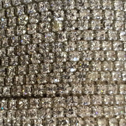 Catena con Strass Crystal 3mm Silver