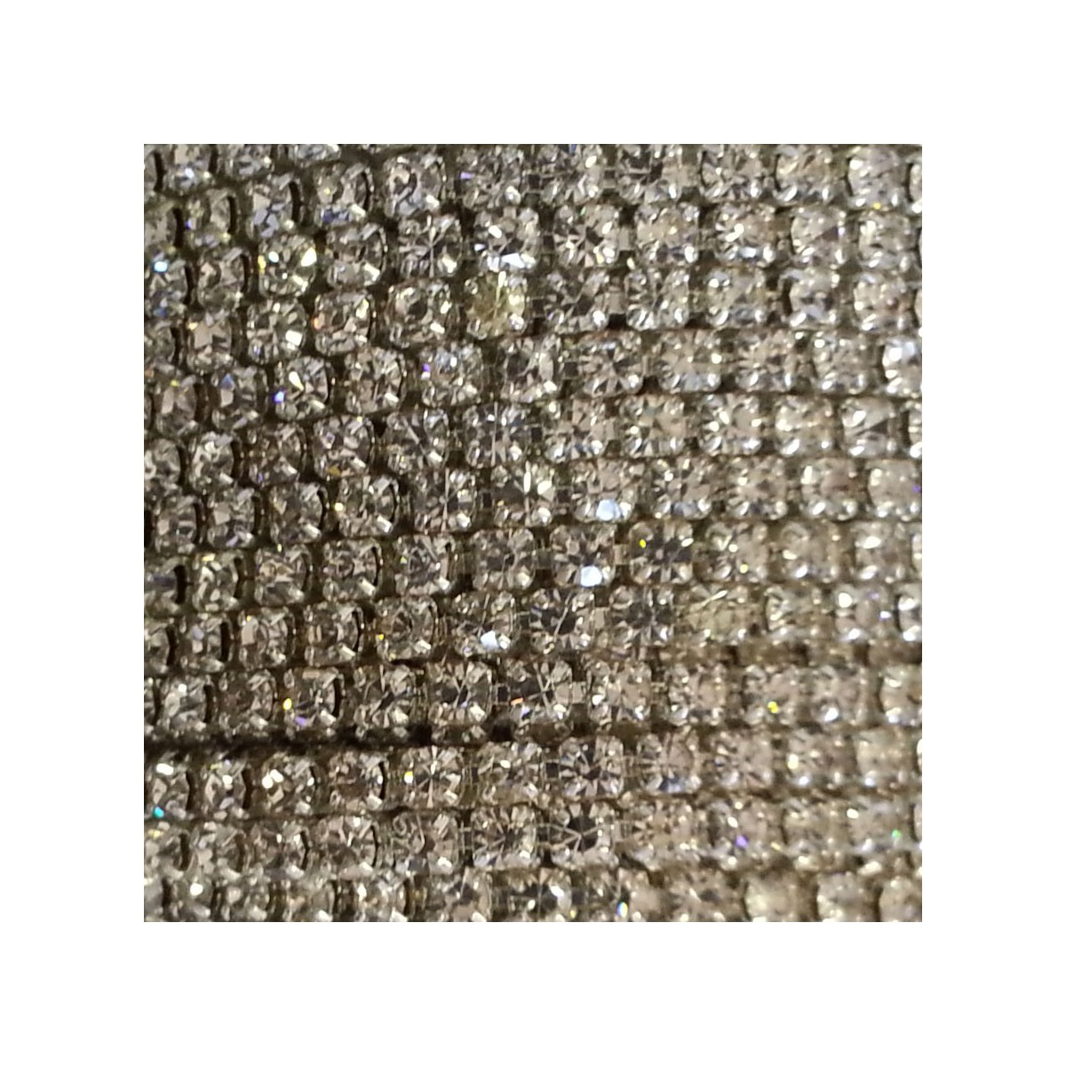 Catena con Strass in Cristallo 3mm Silver