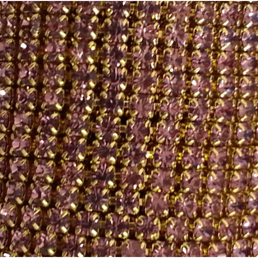 Catena con Strass in Cristallo Light Amethyst 3mm