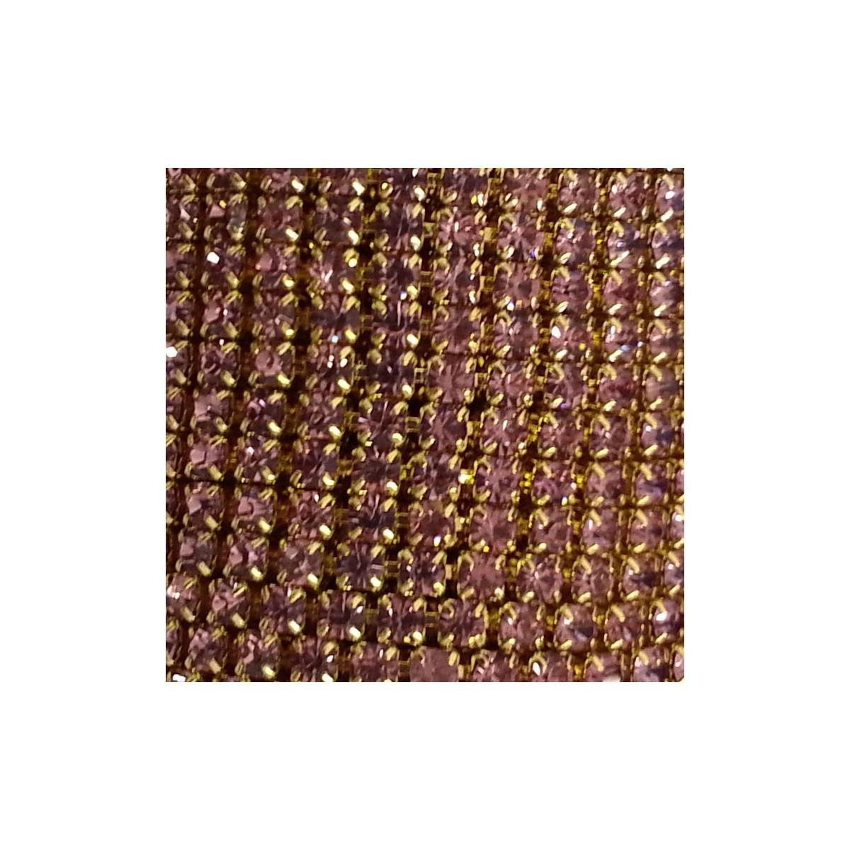Catena con Strass in Cristallo Light Amethyst 3mm