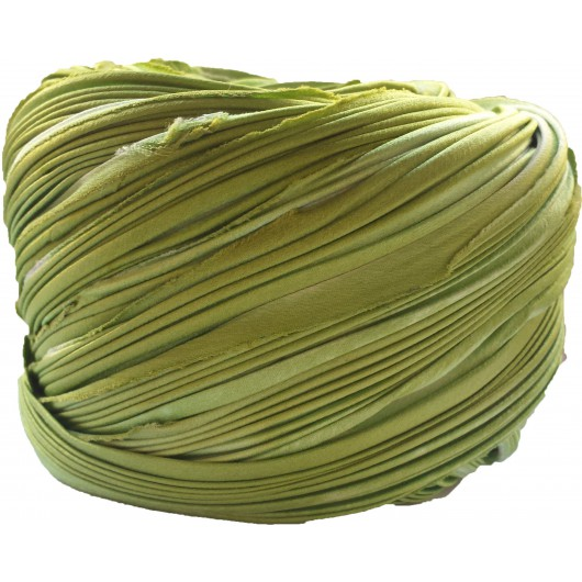 Seta Shibori Ecru Sping Green x15cm