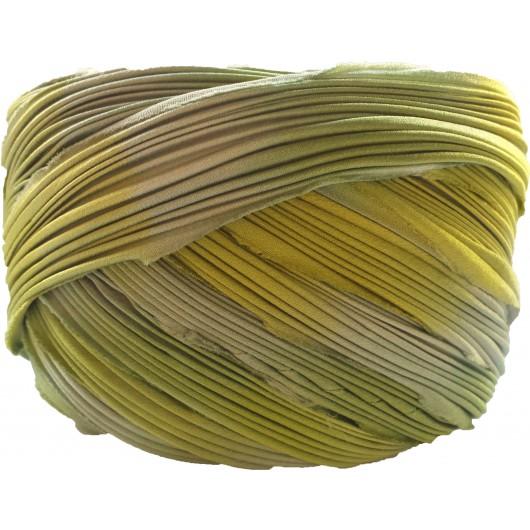 Silk Shibori Spring Green Borealis x15cm