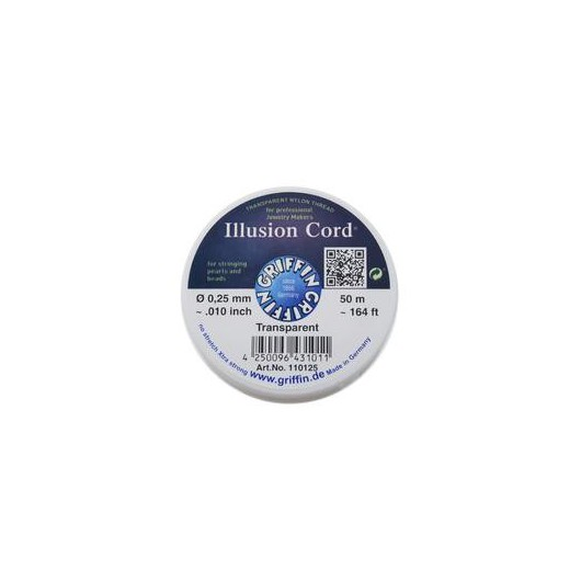 Nylon Invisible Illusion Cord 0,25mm 50mt